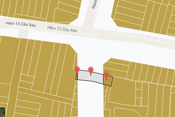 Thửa đất 132m2 bị vướng quy hoạch đường cắt ngang sau nhà, diện tích phù hợp quy hoạch còn lại chỉ 37m2.